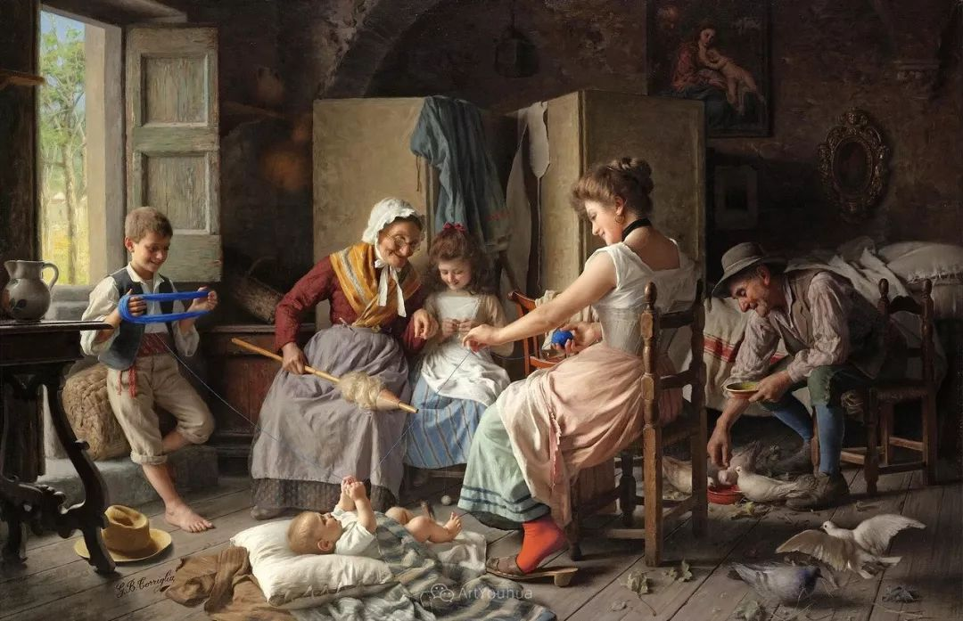 浓厚的生活气息,意大利画家Giovanni Battista Torriglia插图3