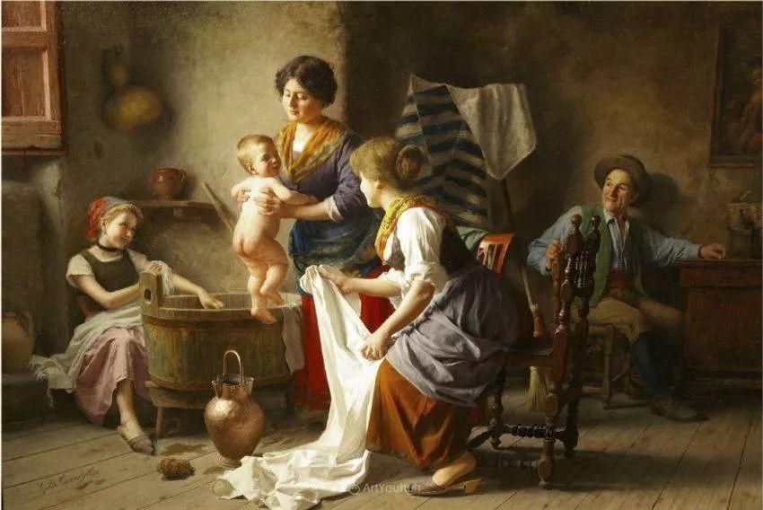 浓厚的生活气息,意大利画家Giovanni Battista Torriglia插图7