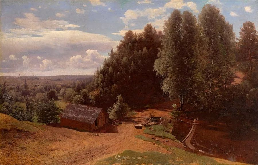 现实主义风景画,乌克兰艺术家Vladimir Donatovich Orlovsky插图33