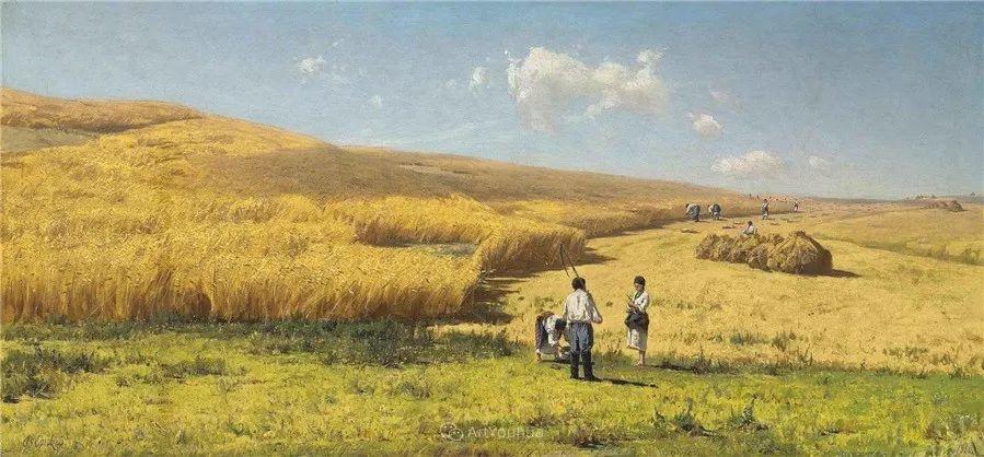 现实主义风景画,乌克兰艺术家Vladimir Donatovich Orlovsky插图37