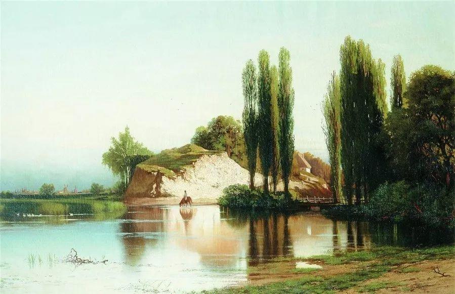 现实主义风景画,乌克兰艺术家Vladimir Donatovich Orlovsky插图39