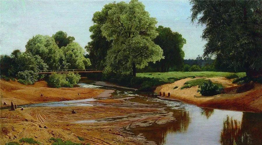 现实主义风景画,乌克兰艺术家Vladimir Donatovich Orlovsky插图43