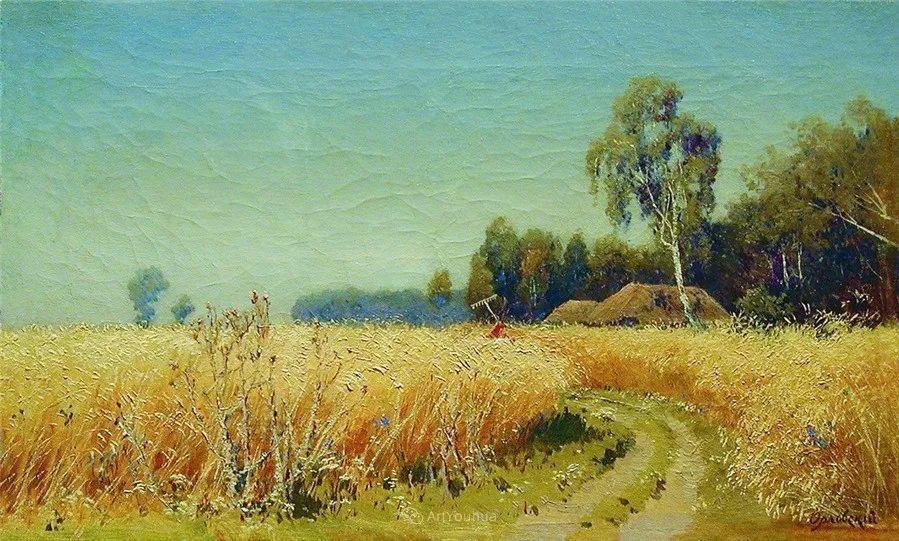 现实主义风景画,乌克兰艺术家Vladimir Donatovich Orlovsky插图51