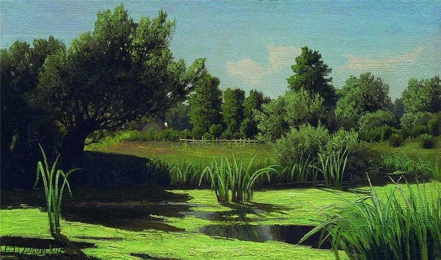 现实主义风景画,乌克兰艺术家Vladimir Donatovich Orlovsky插图57