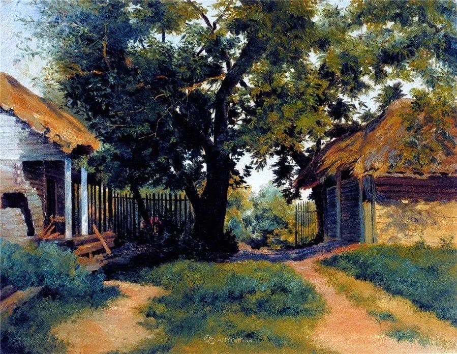 现实主义风景画,乌克兰艺术家Vladimir Donatovich Orlovsky插图71