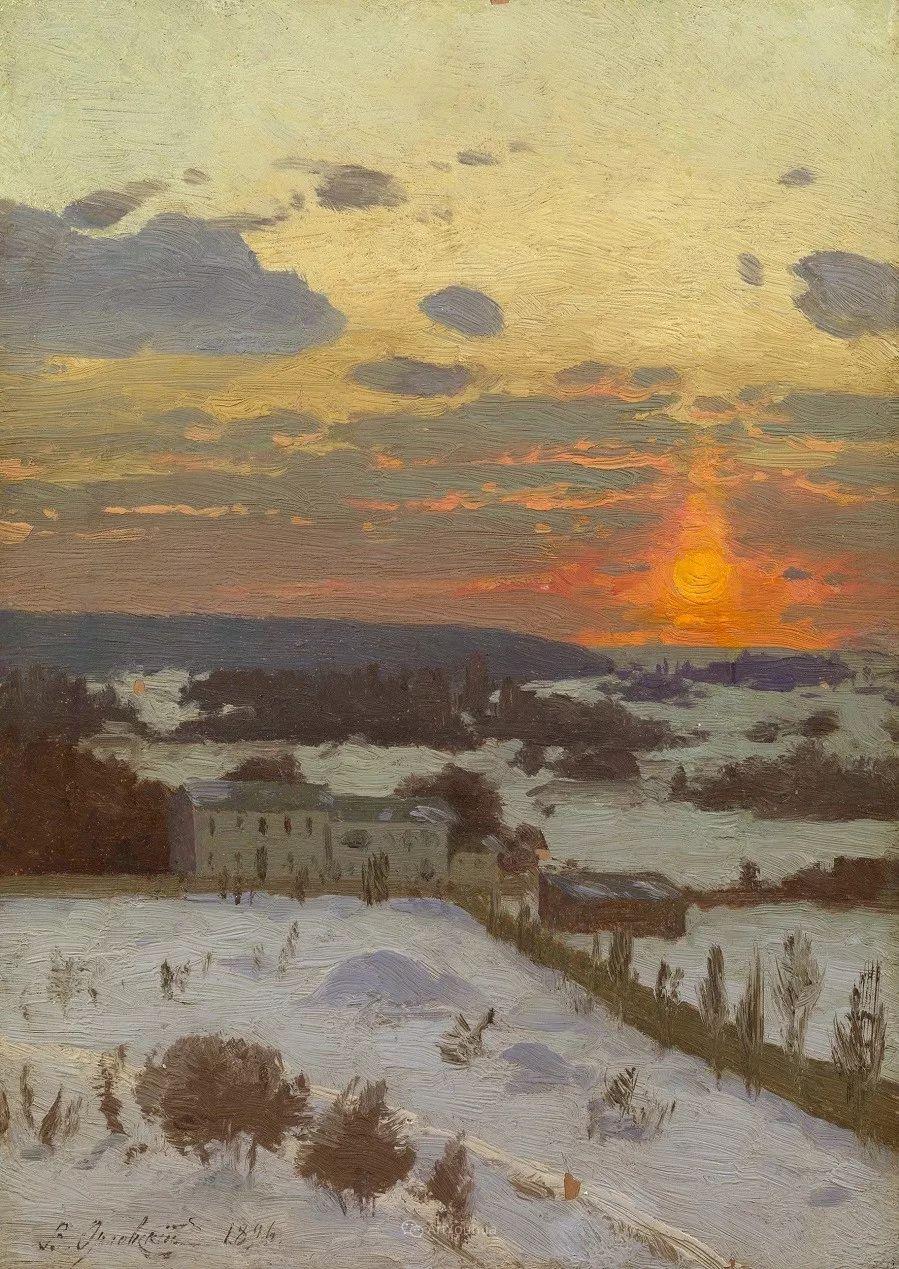现实主义风景画,乌克兰艺术家Vladimir Donatovich Orlovsky插图79