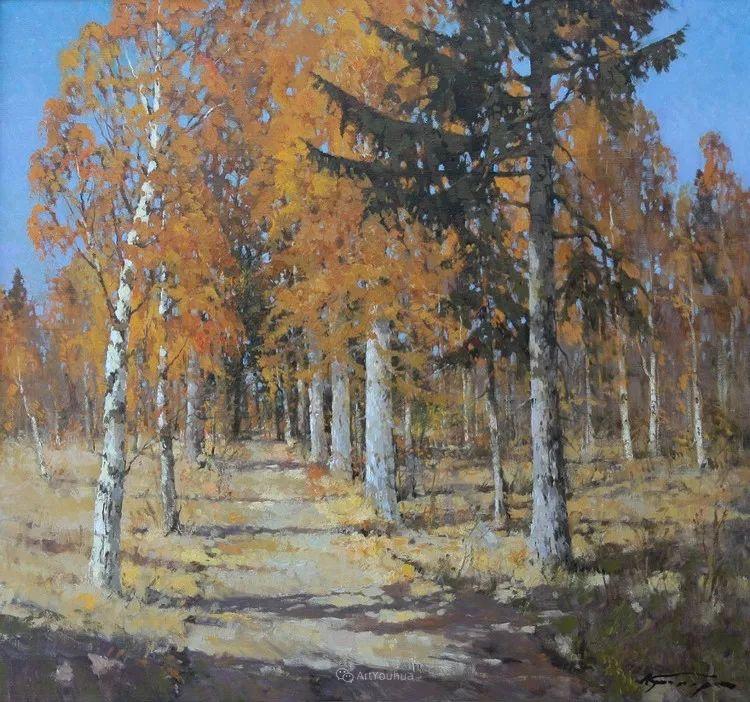 雪景油画,俄罗斯Alexander Kremer插图7