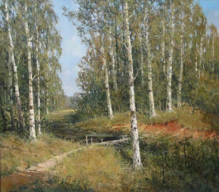 雪景油画,俄罗斯Alexander Kremer插图8