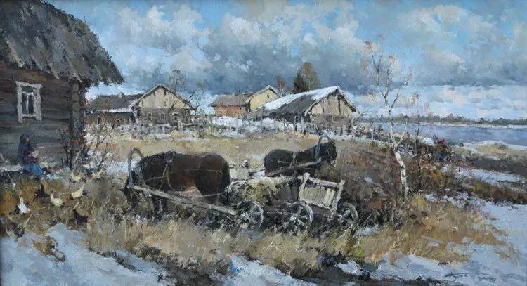 雪景油画,俄罗斯Alexander Kremer插图10