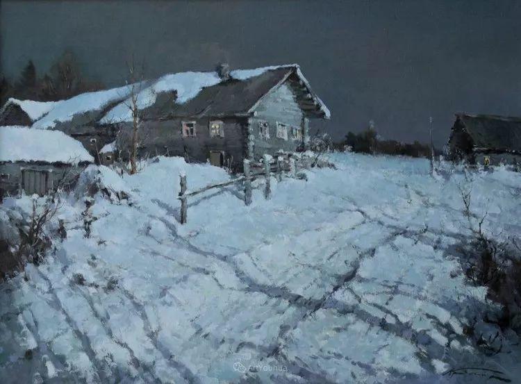 雪景油画,俄罗斯Alexander Kremer插图11