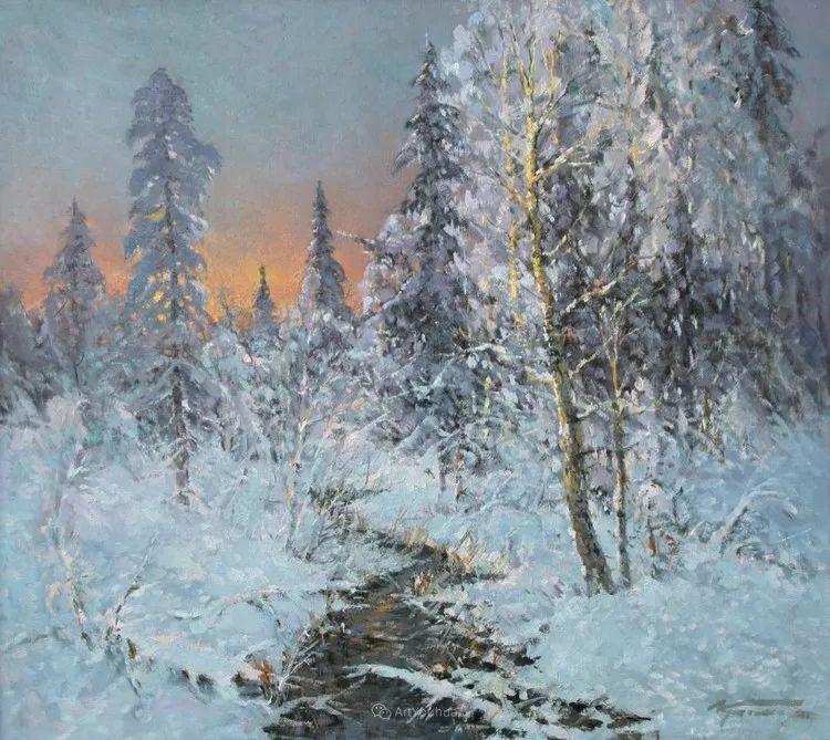 雪景油画,俄罗斯Alexander Kremer插图12