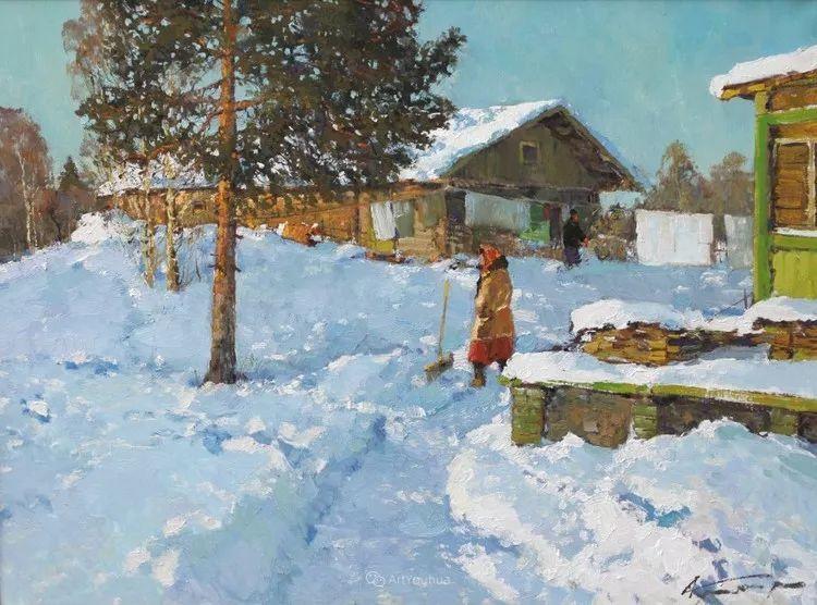 雪景油画,俄罗斯Alexander Kremer插图14