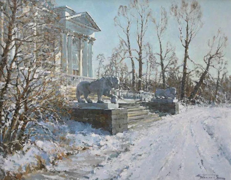 雪景油画,俄罗斯Alexander Kremer插图16