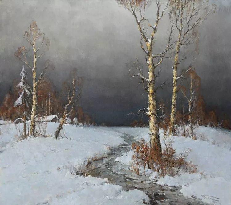 雪景油画,俄罗斯Alexander Kremer插图17