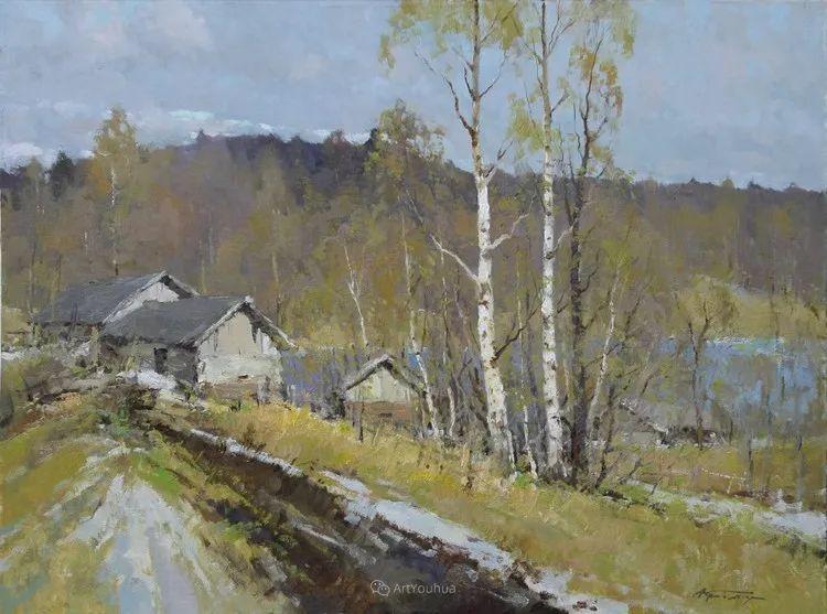 雪景油画,俄罗斯Alexander Kremer插图18