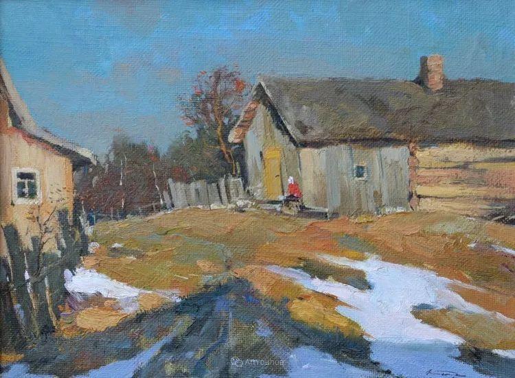 雪景油画,俄罗斯Alexander Kremer插图19