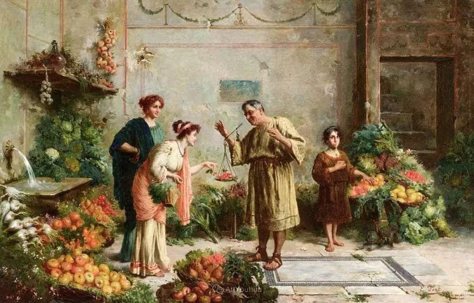 维多利亚晚期非常流行的油画主题,意大利艺术家Ettore Forti插图
