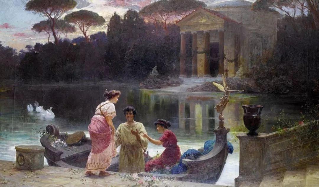 维多利亚晚期非常流行的油画主题,意大利艺术家Ettore Forti插图1