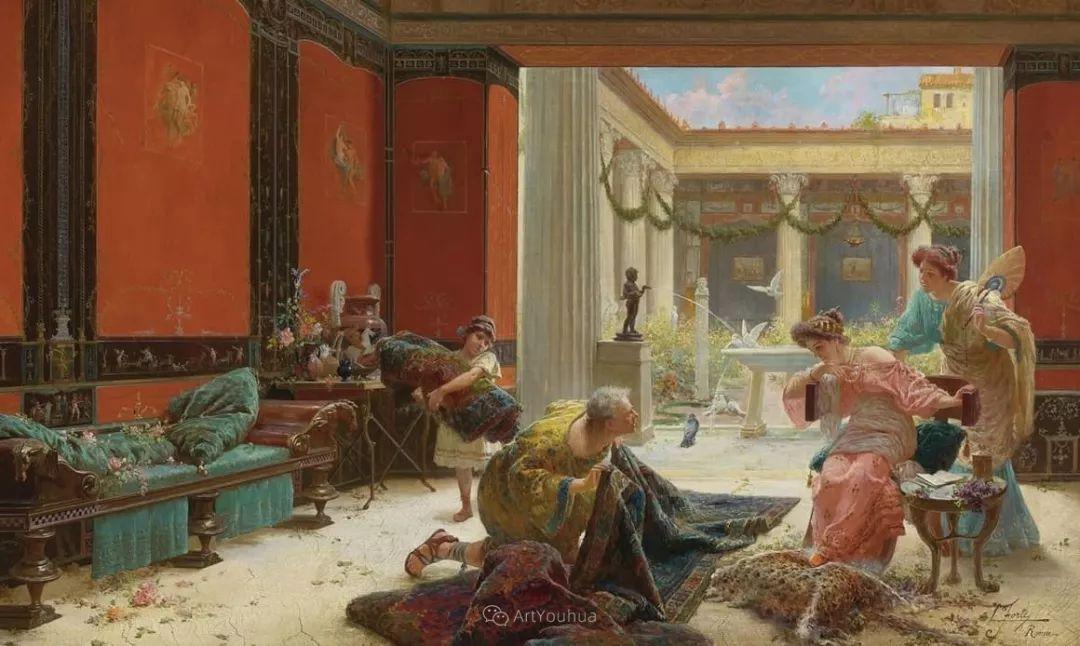 维多利亚晚期非常流行的油画主题,意大利艺术家Ettore Forti插图2