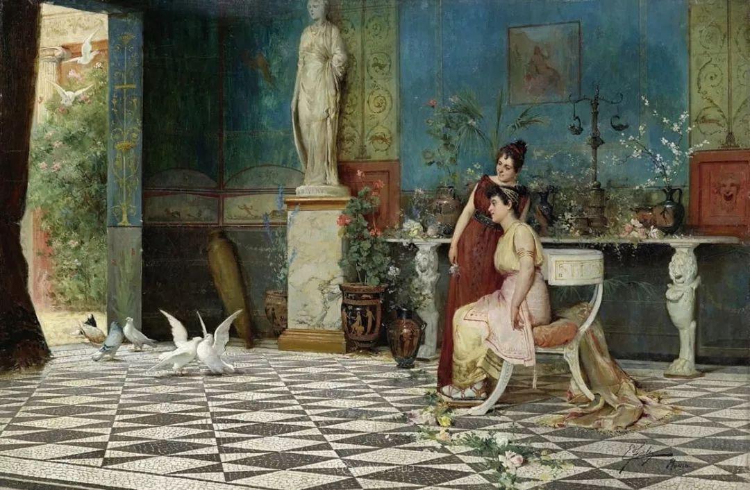 维多利亚晚期非常流行的油画主题,意大利艺术家Ettore Forti插图3