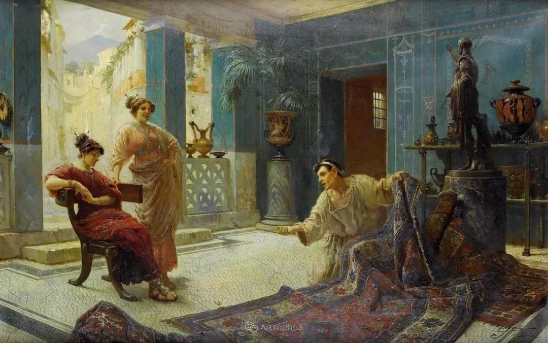 维多利亚晚期非常流行的油画主题,意大利艺术家Ettore Forti插图4