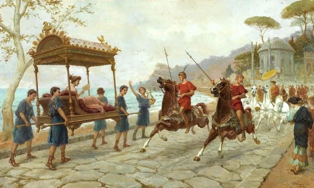 维多利亚晚期非常流行的油画主题,意大利艺术家Ettore Forti插图6