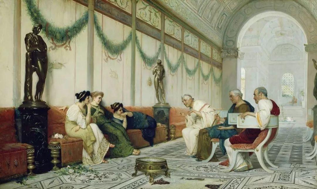 维多利亚晚期非常流行的油画主题,意大利艺术家Ettore Forti插图7