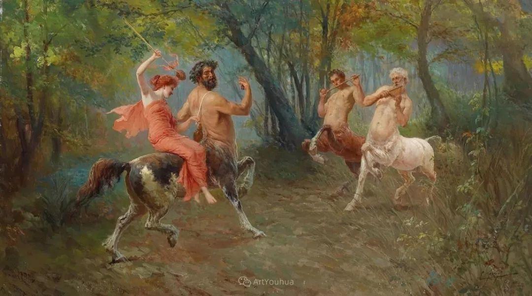 维多利亚晚期非常流行的油画主题,意大利艺术家Ettore Forti插图8