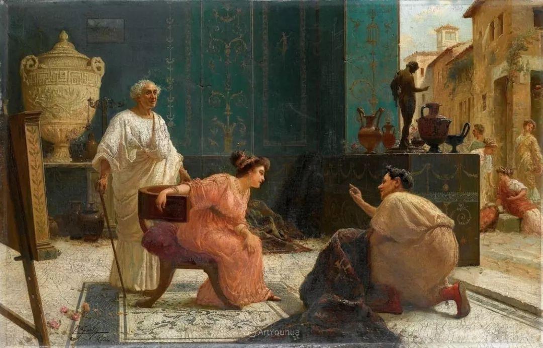维多利亚晚期非常流行的油画主题,意大利艺术家Ettore Forti插图9