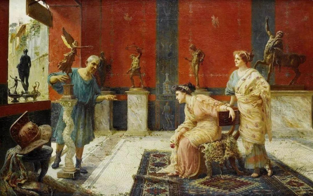 维多利亚晚期非常流行的油画主题,意大利艺术家Ettore Forti插图10