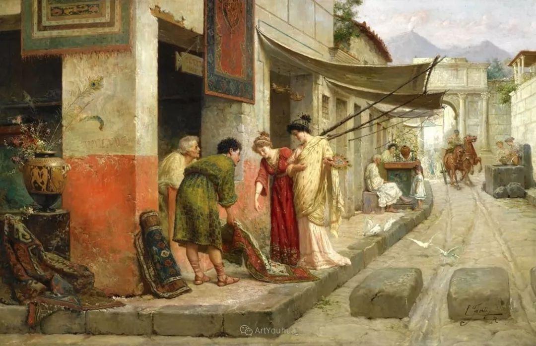 维多利亚晚期非常流行的油画主题,意大利艺术家Ettore Forti插图11
