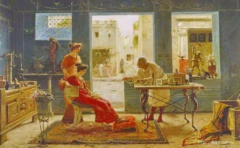 维多利亚晚期非常流行的油画主题,意大利艺术家Ettore Forti插图12