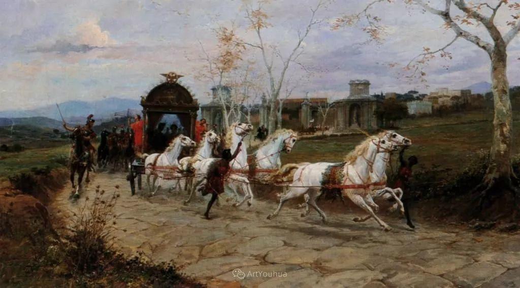 维多利亚晚期非常流行的油画主题,意大利艺术家Ettore Forti插图13