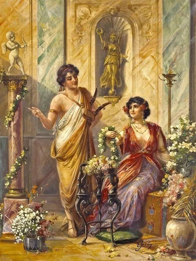 维多利亚晚期非常流行的油画主题,意大利艺术家Ettore Forti插图15