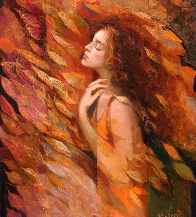 她的油画有一种惊艳脱俗的美,乌克兰天才女画家艾琳·谢里插图