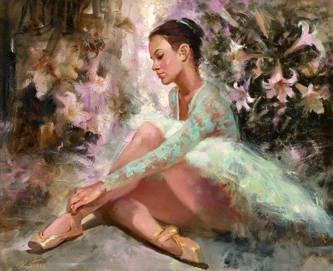 她的油画有一种惊艳脱俗的美,乌克兰天才女画家艾琳·谢里插图1