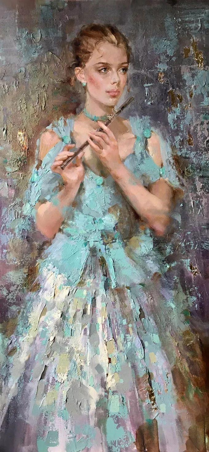 她的油画有一种惊艳脱俗的美,乌克兰天才女画家艾琳·谢里插图2
