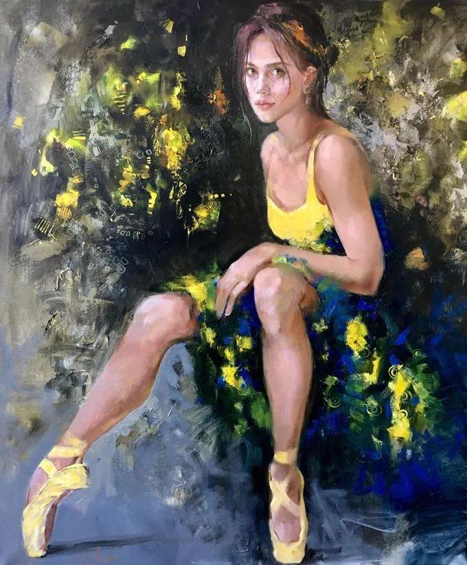 她的油画有一种惊艳脱俗的美,乌克兰天才女画家艾琳·谢里插图4