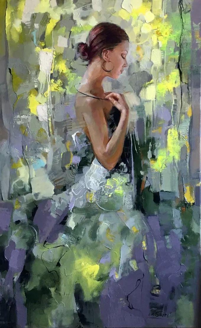 她的油画有一种惊艳脱俗的美,乌克兰天才女画家艾琳·谢里插图5