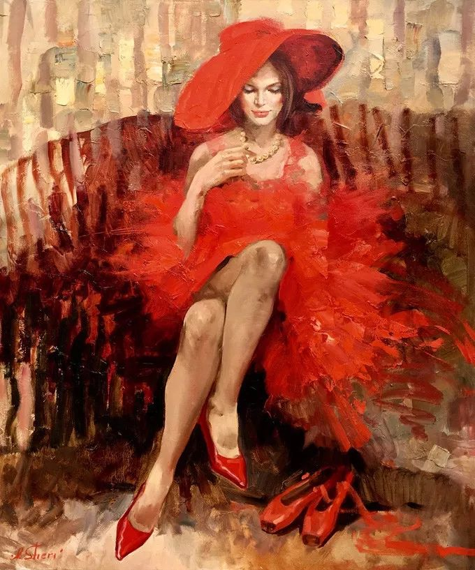她的油画有一种惊艳脱俗的美,乌克兰天才女画家艾琳·谢里插图6