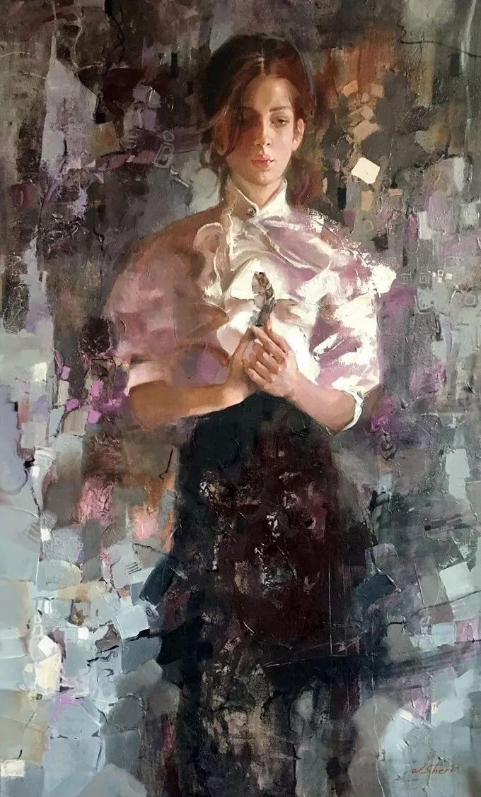 她的油画有一种惊艳脱俗的美,乌克兰天才女画家艾琳·谢里插图7