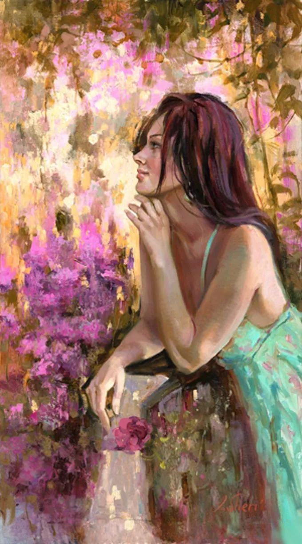 她的油画有一种惊艳脱俗的美,乌克兰天才女画家艾琳·谢里插图8