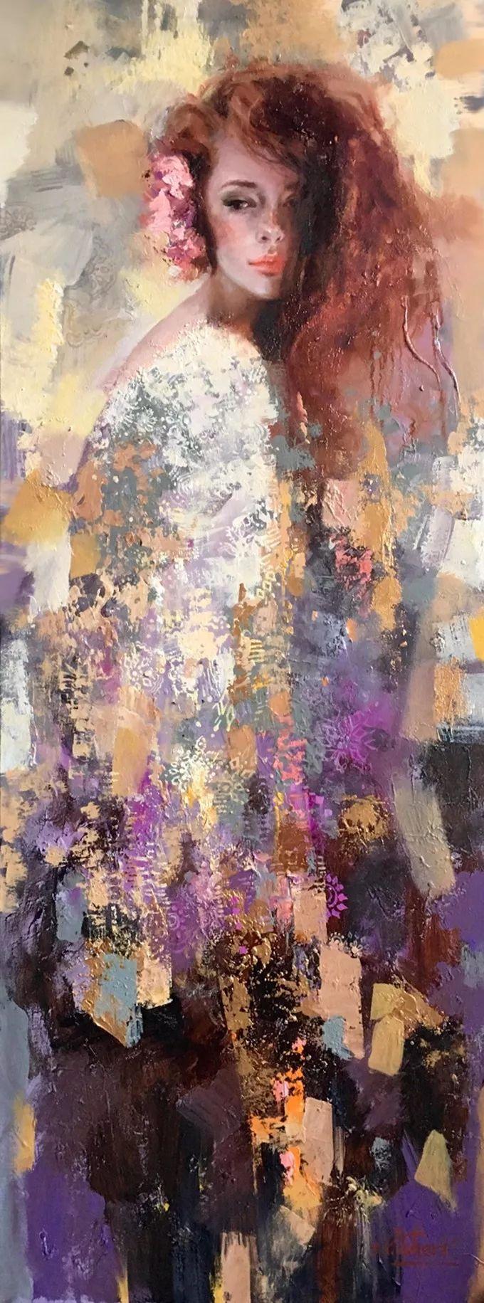 她的油画有一种惊艳脱俗的美,乌克兰天才女画家艾琳·谢里插图11