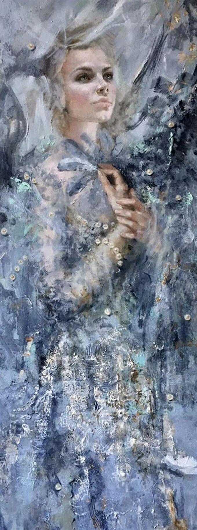 她的油画有一种惊艳脱俗的美,乌克兰天才女画家艾琳·谢里插图12