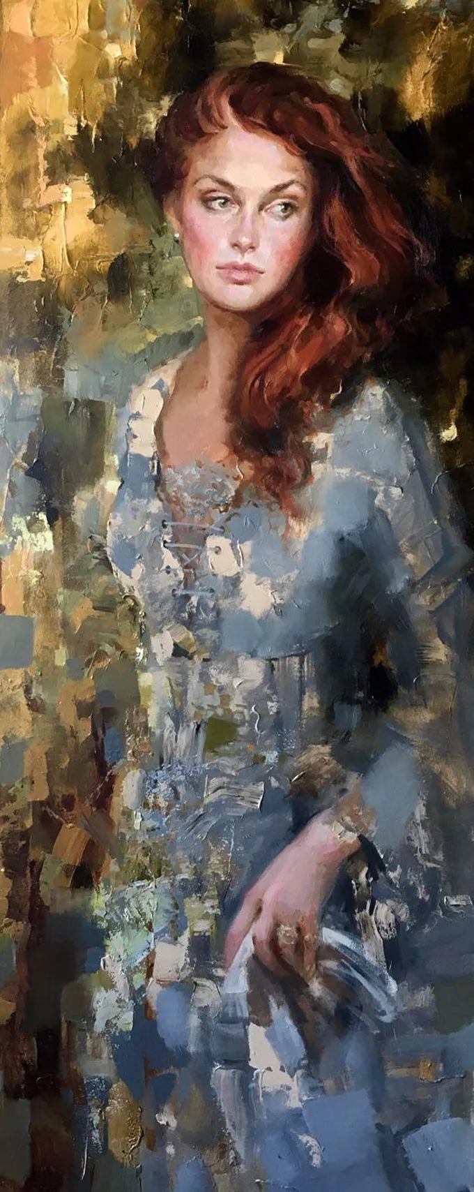 她的油画有一种惊艳脱俗的美,乌克兰天才女画家艾琳·谢里插图14