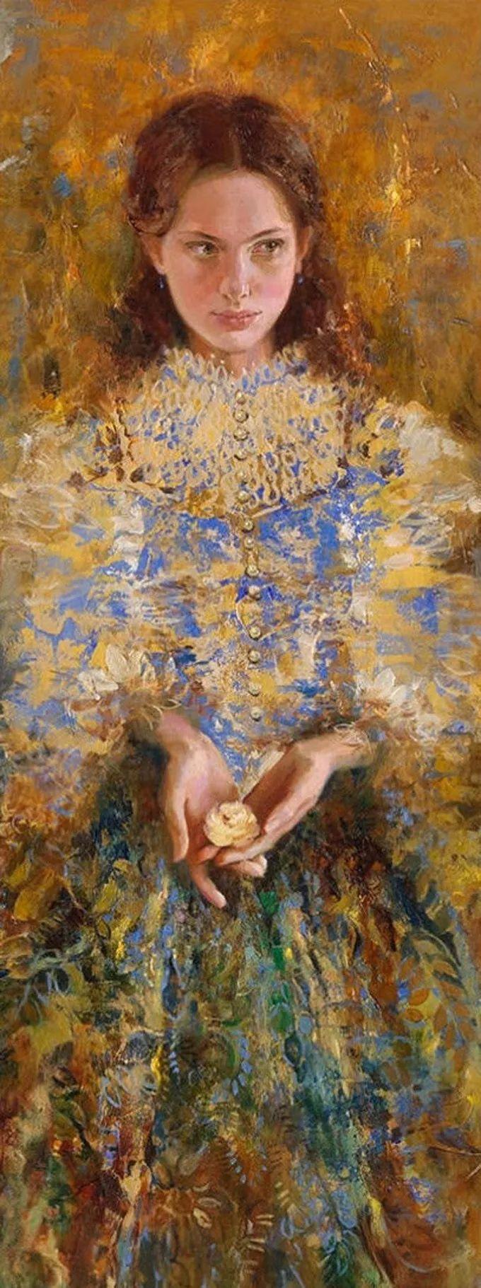 她的油画有一种惊艳脱俗的美,乌克兰天才女画家艾琳·谢里插图15
