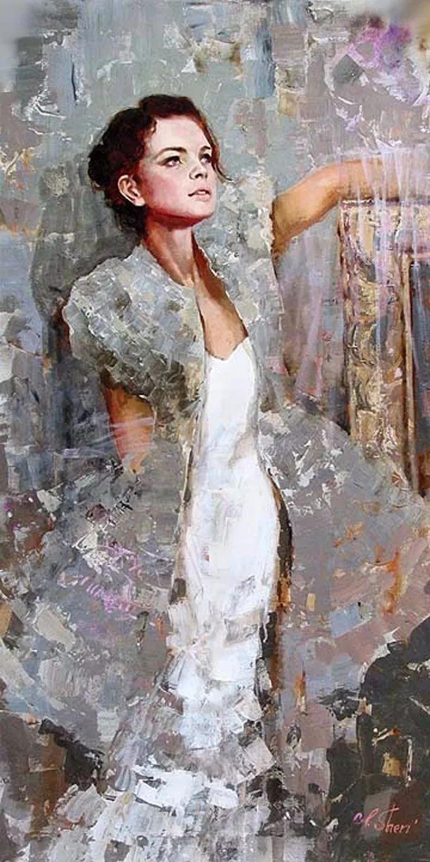 她的油画有一种惊艳脱俗的美,乌克兰天才女画家艾琳·谢里插图18