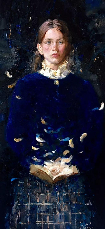 她的油画有一种惊艳脱俗的美,乌克兰天才女画家艾琳·谢里插图19