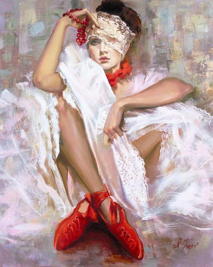 她的油画有一种惊艳脱俗的美,乌克兰天才女画家艾琳·谢里插图20