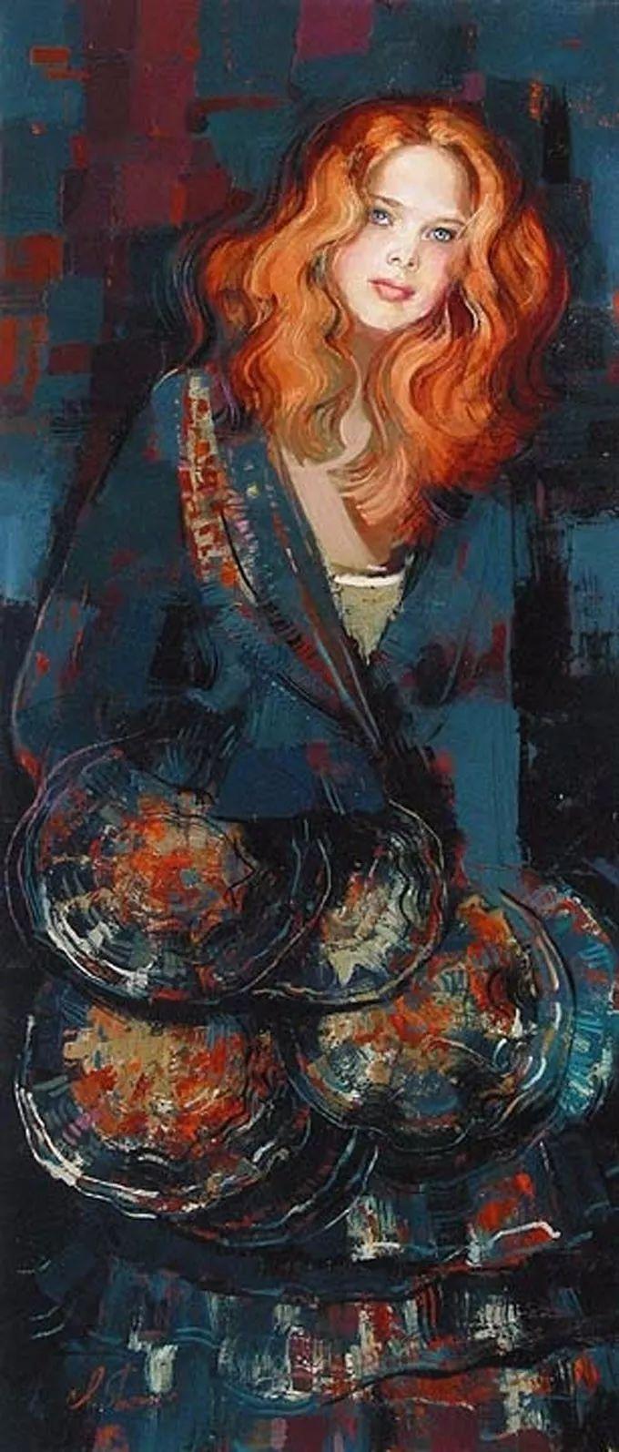 她的油画有一种惊艳脱俗的美,乌克兰天才女画家艾琳·谢里插图21